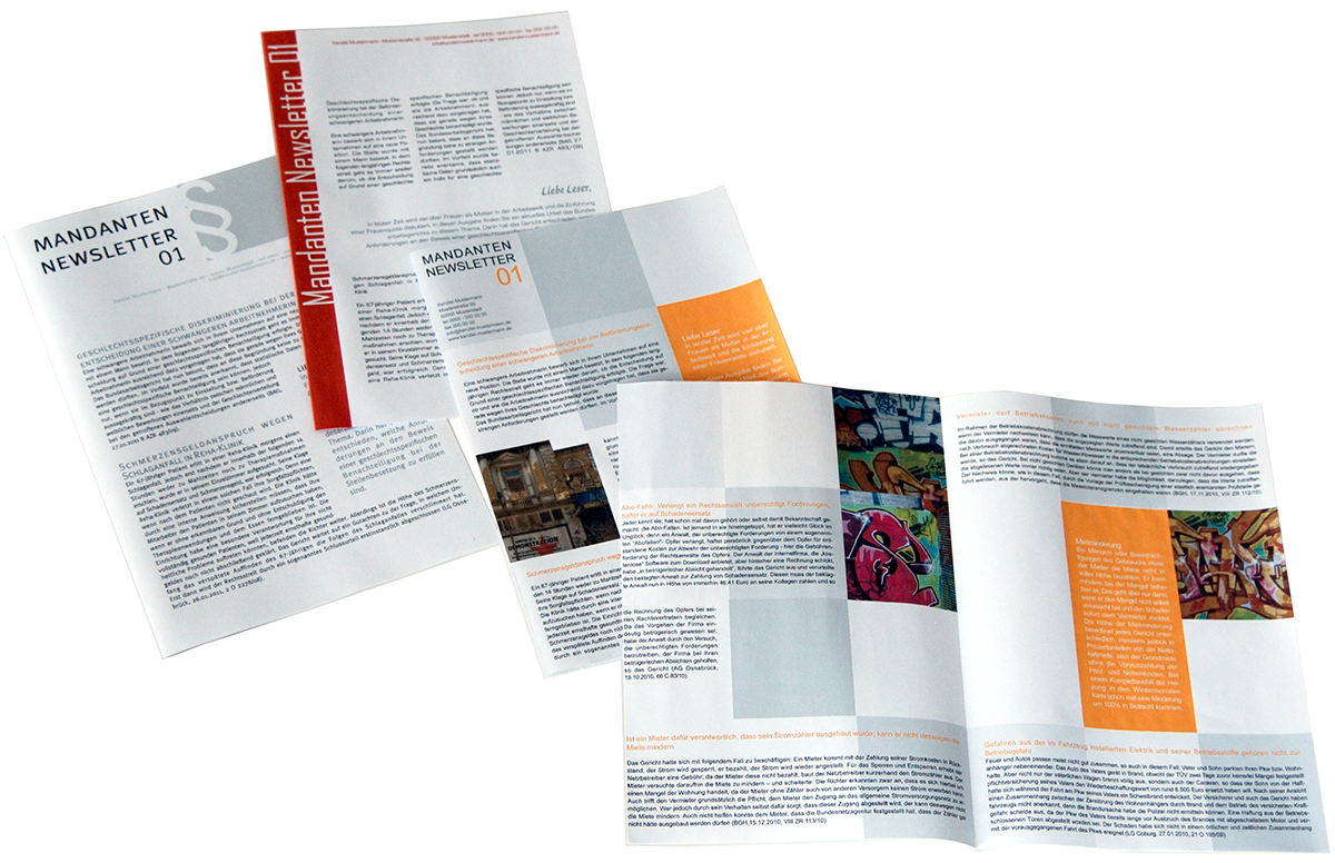 Newsletter, Broschüren, Flyer, Portfolio, Print