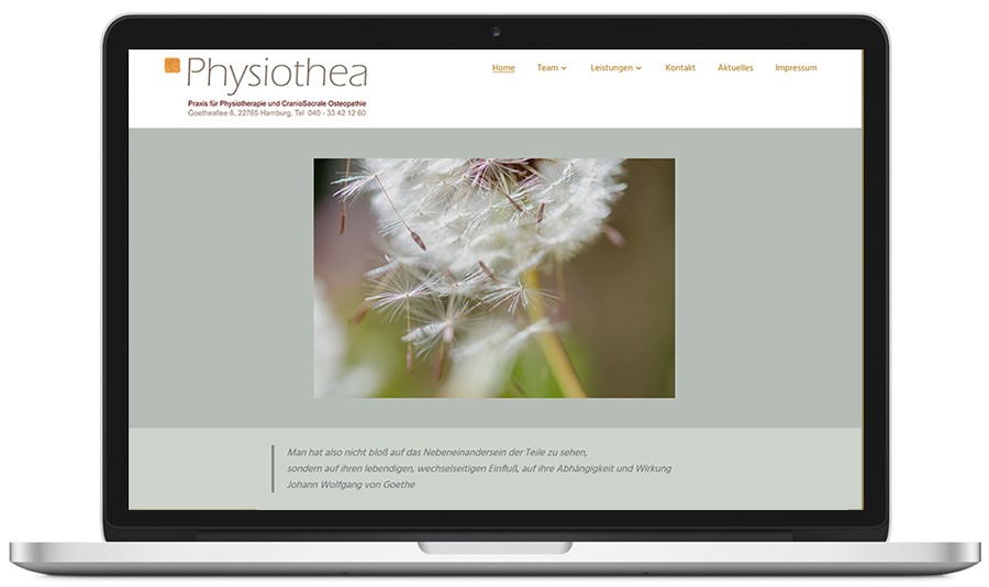 website physiothea / physiotherapie-hamburgaltona.de